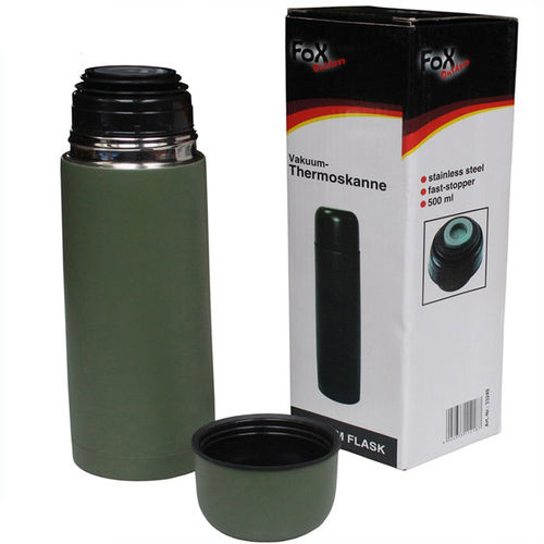 Fox Outdoor Vakuum Thermoskanne 500 ml oliv