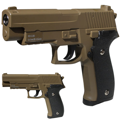 BGS G26 FDE Vollmetall Airsoft Pistole Softair 6 mm <  0,5 Joule