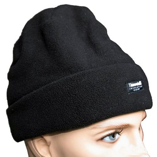 Pro Company Rollmütze Fleece Beanie schwarz 3M™ Thinsulate™