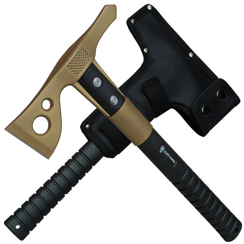 Elite Force EF803 Campingaxt Gold Tactical Tomahawk inkl. Nylonscheide