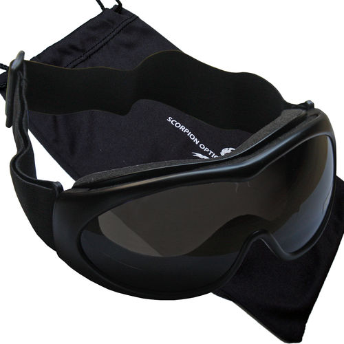 Scorpion Optics Tactical Sportbrille Schießbrille UV Schutz Gläserfarbe smoke