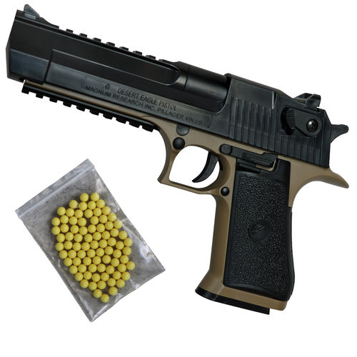 Desert Eagle.50AE Airsoft Pistole Federdruck < 0,5 Joule Bicolor