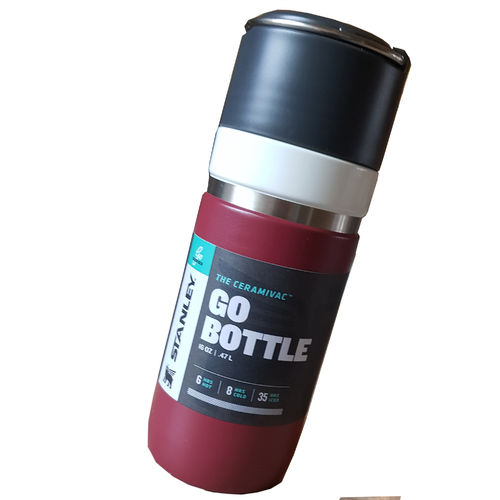 Stanley GO SERIES VACUUM BOTTLE 473 ml in cranberry-rot